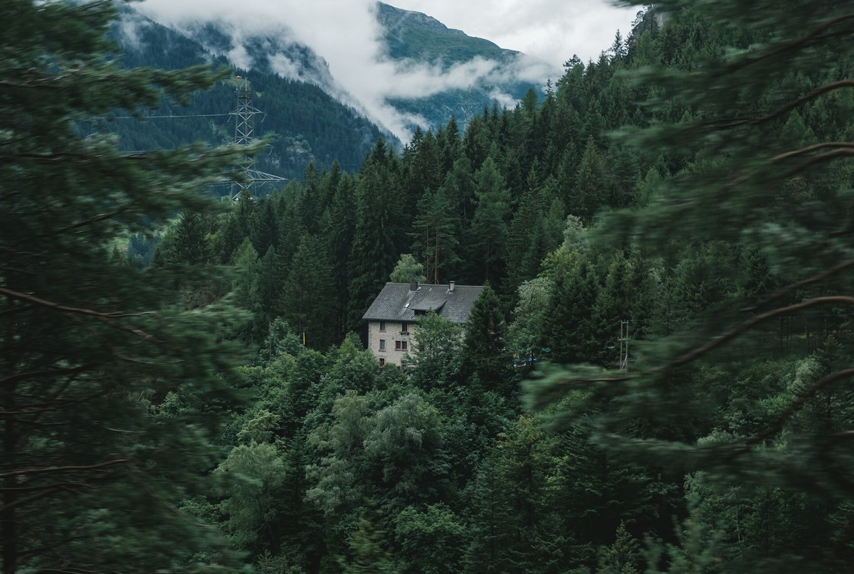House on the mountains