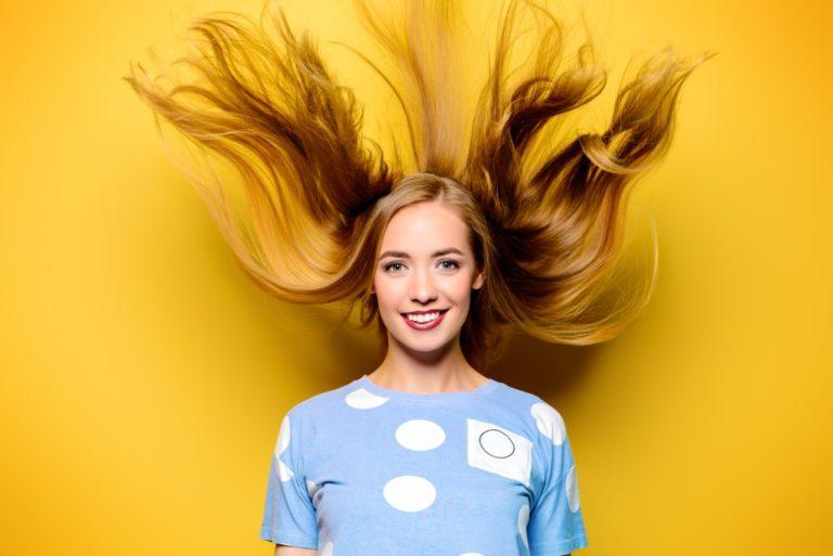 Girl with nice hair
