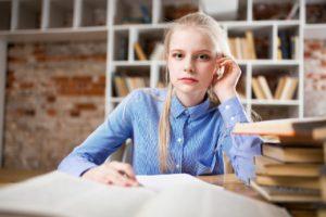 teenage girl student