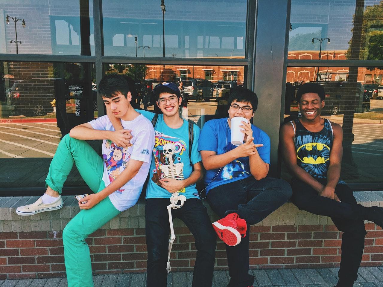 group of teenage boys