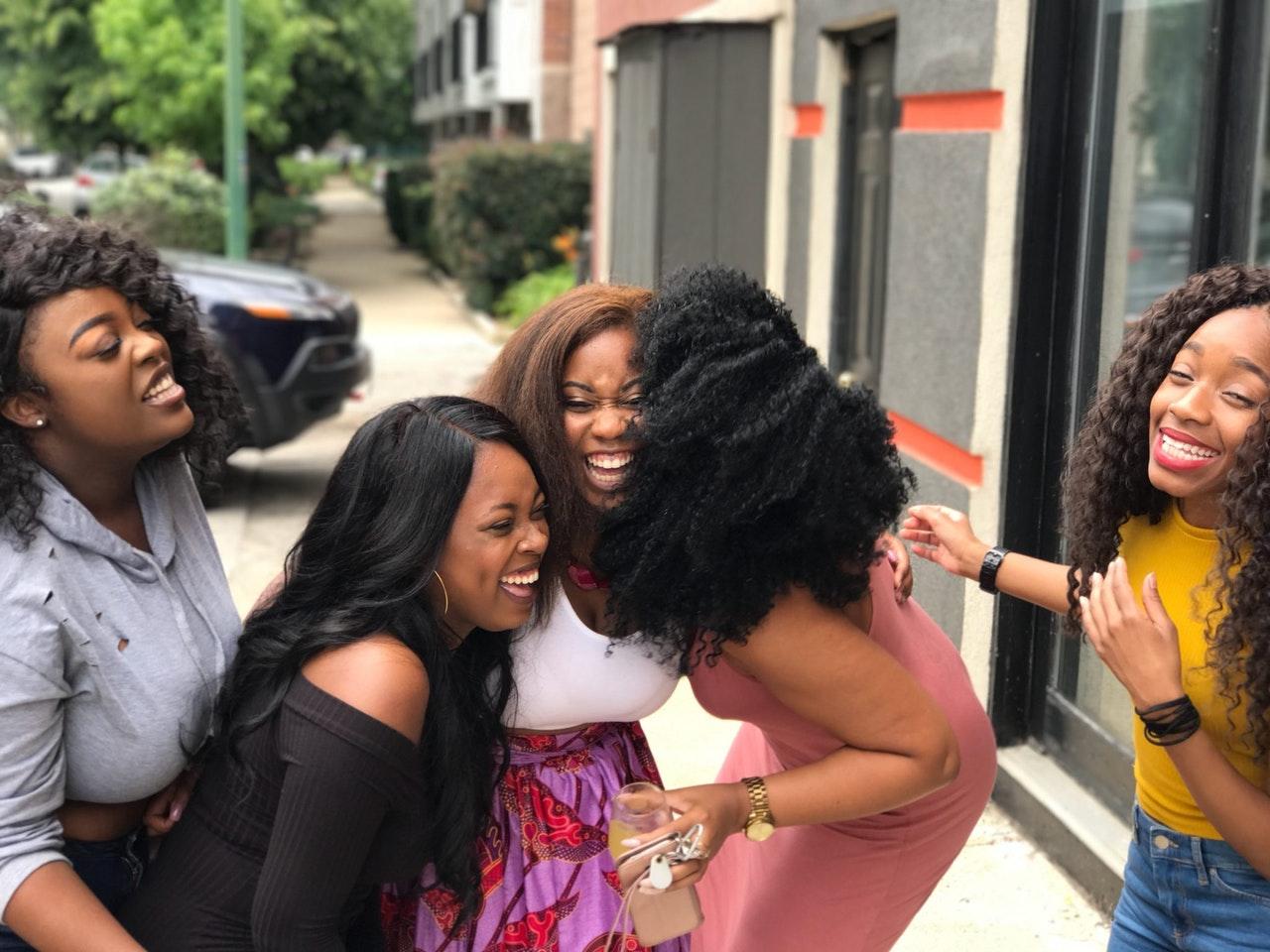 group of women having fun